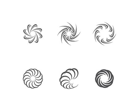 Business logo, vortex, wave and spiral icon Иллюстрация
