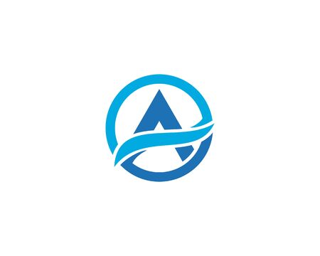 A Letter Logo Business Template Vector Çizim