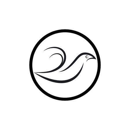 Bird wing Dove Logo Template vector illustration Stock Illustratie