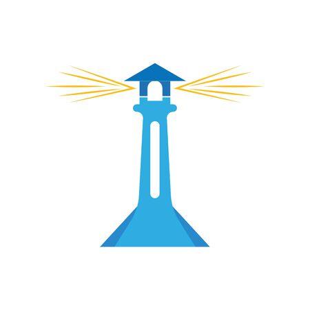 Light House Logo Template vector 写真素材 - 130099377