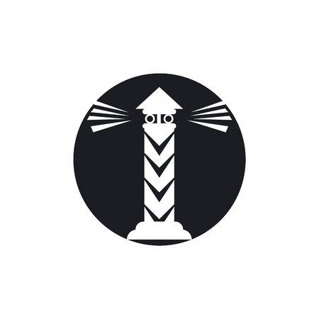 Light House Logo Template vector  イラスト・ベクター素材