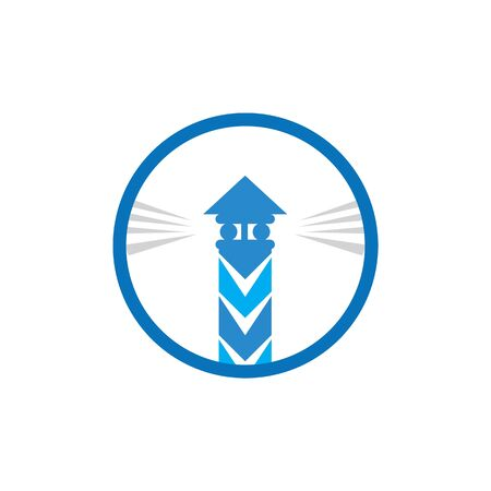Light House Logo Template vector 写真素材 - 130099385