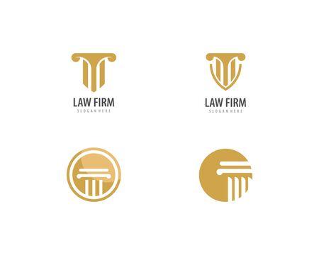 column Logo vector Template Ilustração