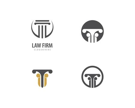 column Logo vector Template Illusztráció