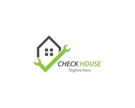 Home service logo vector template 向量圖像