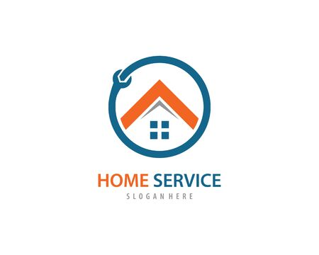 Home service logo vector template Illustration