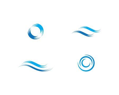 Water wave Logo Template Stock Illustratie