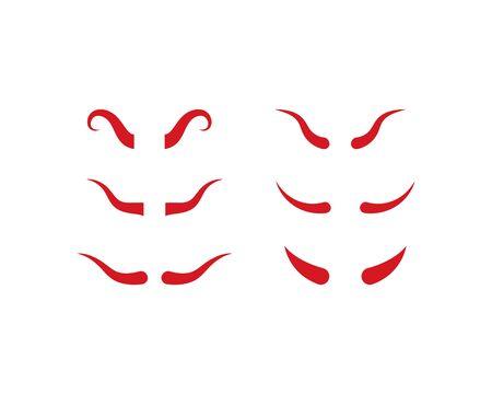 Devil horn logo vector template