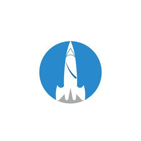 Rocket ilustration logo vector icon template