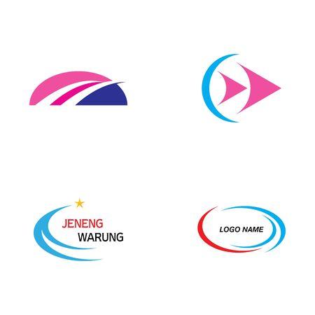 Faster Logo Template vector icon illustration design  イラスト・ベクター素材