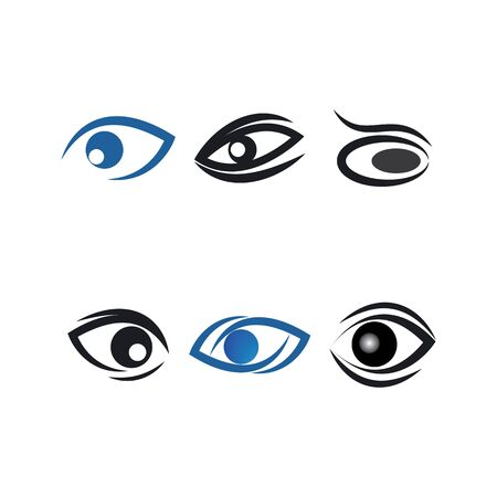 Eye care logo vector template