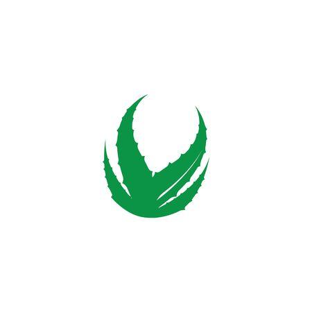 Aloe vera logo vector ilustration template Çizim
