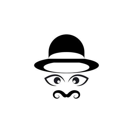 mustache icon template vector design Ilustração
