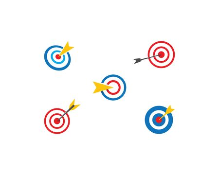Target icon vector ilustration template