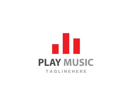 music logo vector template Stock Illustratie