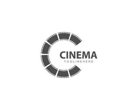 filmstrip Logo Template vector illustration design Banco de Imagens - 130784670