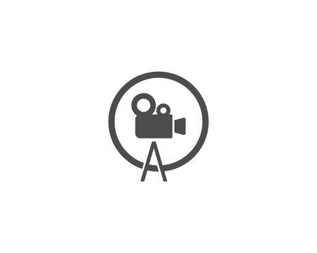 Camera Movie logo vector template  イラスト・ベクター素材
