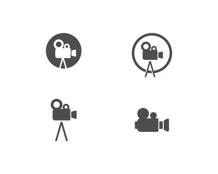 Camera Movie logo vector template Illustration