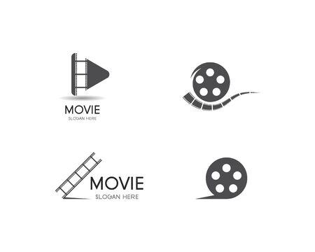 filmstrip Logo Template vector illustration design Banco de Imagens - 130784723