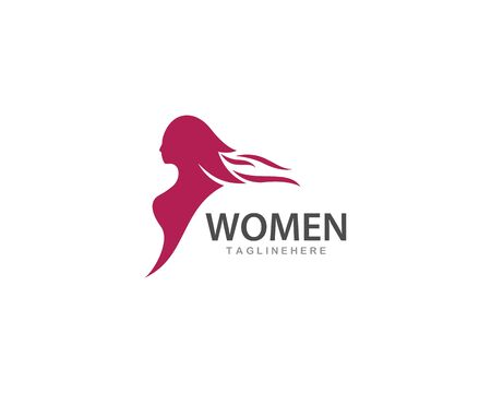 Beauty Woman logo vector template Çizim