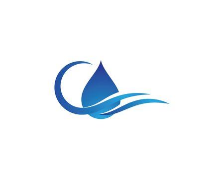 water drop Logo Template vector illustration design Фото со стока - 130784840