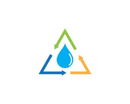 water drop Logo Template vector illustration design Иллюстрация