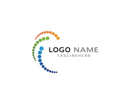 Business logo, vortex, circle and spiral icon vector template