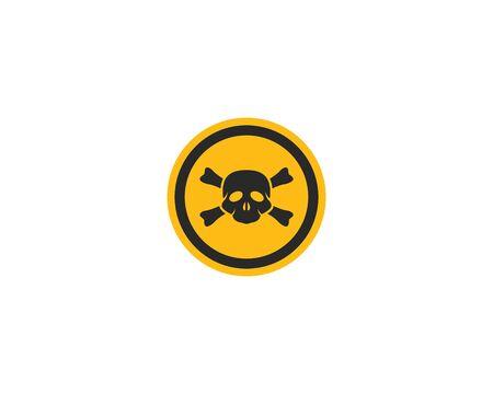 Skull Danger icon vector