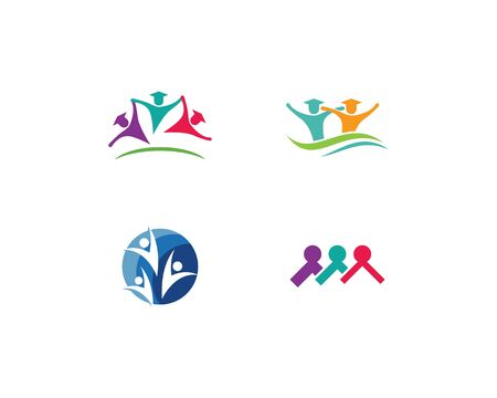 Adoption and community care Logo template vector Stock Illustratie