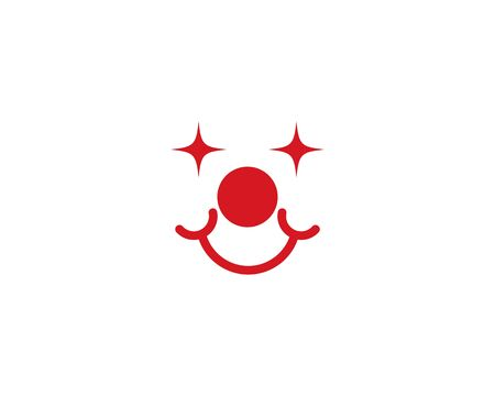 Clown logo template ilustration vector