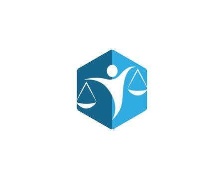 Lawyer logo vector template Stock Illustratie