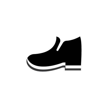 shoe man logo vector template design