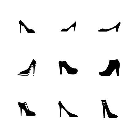 woman shoe ,High Heel logo vector template Stock Illustratie