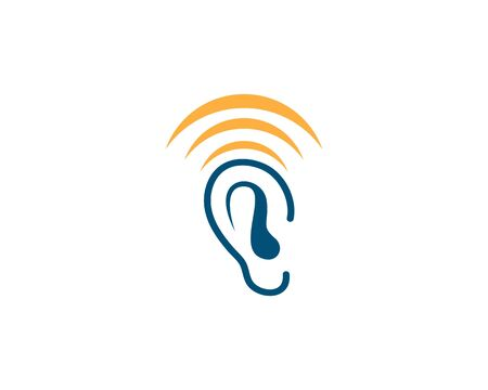 Hearing Logo Template vector Ilustração