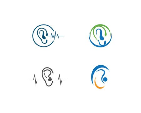 Hearing Logo Template vector Illustration