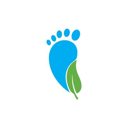 foot care ilustration Logo vector Template Ilustrace