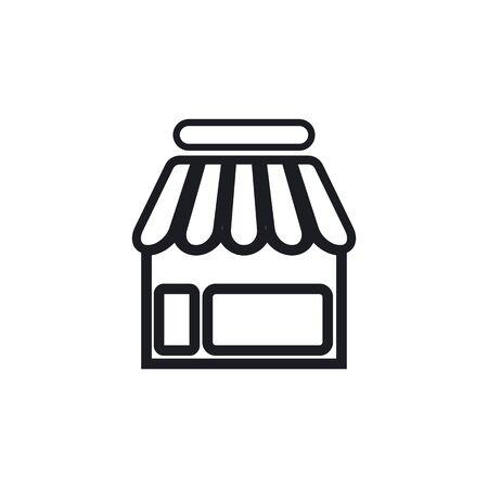 Store icon template vector design