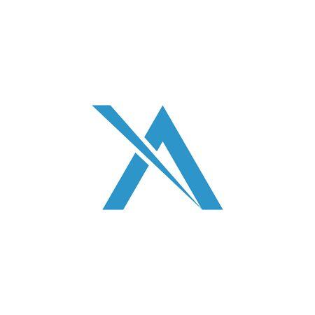 A Letter Alphabet font logo vector design Stock Illustratie