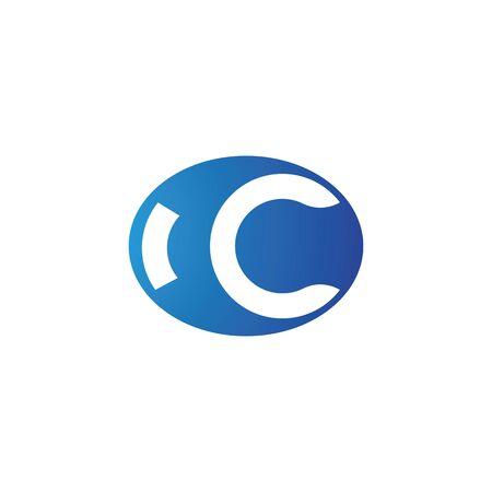C Letter Alphabet font logo vector design