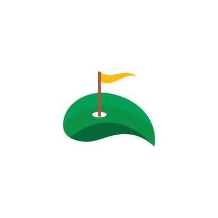 Golf Logo Template vector illustration design Illusztráció