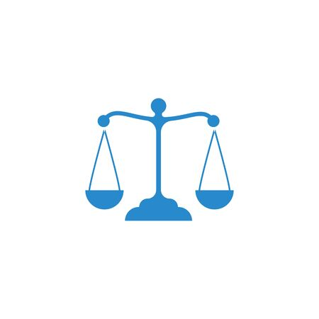 Law firm logo ilustration vector template