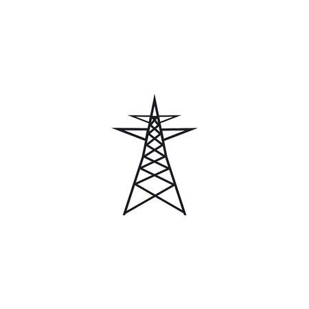 electrikal tower logo icon vector design