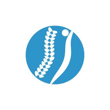 Spine logo diagnostics symbol design
