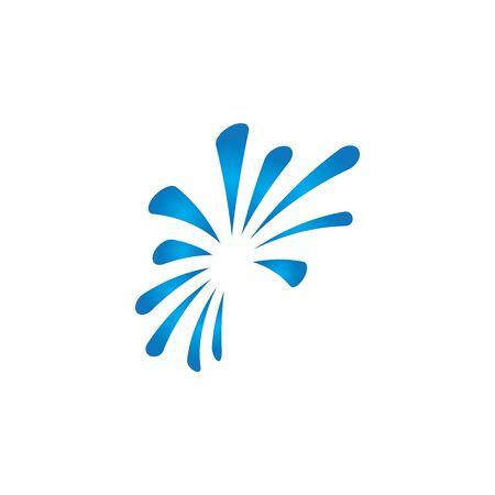 fireworks logo vector template design Foto de archivo - 133735864