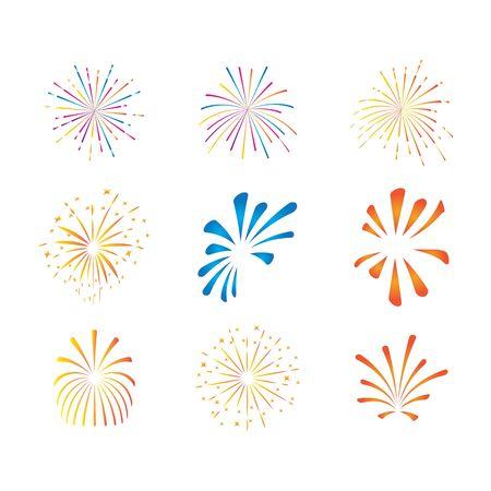 fireworks logo vector template design Foto de archivo - 133735885