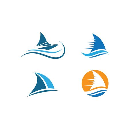 Sailing boat logo Template vector