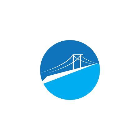 bridge Logo Template vector icon illustration design Ilustração
