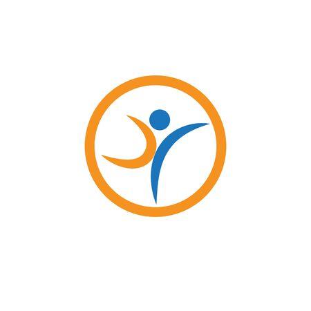 Healthy Life Logo template vector Archivio Fotografico - 134856671
