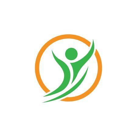 Healthy Life Logo template vector Archivio Fotografico - 134856676
