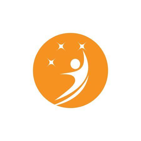 Healthy Life Logo template vector Archivio Fotografico - 134856682
